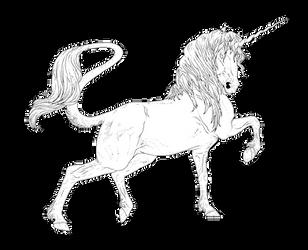 Friesian Unicorn Line Art [FREE] by IrritatorRaji