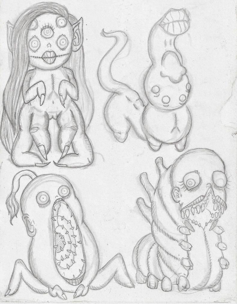Guide parasites (females) by Jonathenx66