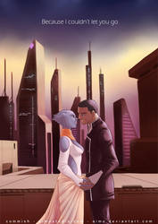 ME2 - Shepard and Liara by aimo