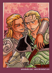 PSC - Zevran and Mahariel by aimo