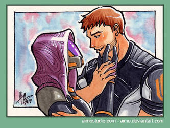 PSC - Tali and Shepard by aimo