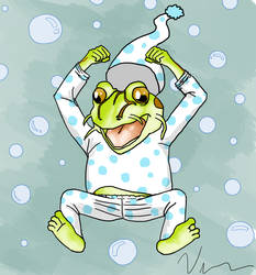 Frog's Pija's party (Wriga's avatar) by vince20100