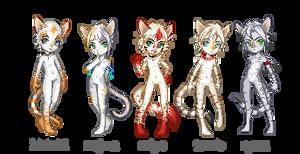 my kitties - group 1 by Kvitter