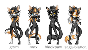 my kitties - group 3 by Kvitter