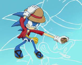 One Piece Sonic by SIM0N2