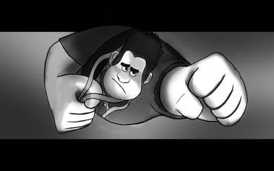 *SPOILER* Wreck It Ralph - You're My Hero (Sketch) by SIM0N2