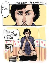 BBC Sherlock - Annoying Roommate by koenta