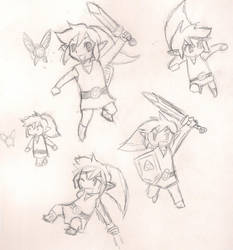 Toon Link Doodle Dump by rellimailuj