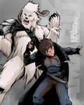 Kiba and Akamaru smuggler style! by G-Matoshi