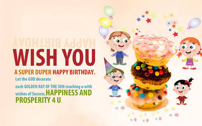 Birthday Card Design by webdziner