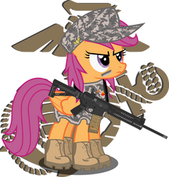 Scootaloo is Proud to Serve by ShutterflyEQD