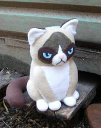 Grumpy Cat Plushie by TsukiGalaxy