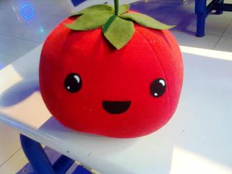Tomato Plushie by TsukiGalaxy