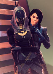 Tali'Zorah and Ashley by Rescraft
