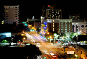 Downtown Tallahassee - Night by Ridoz