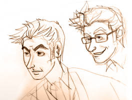 10th Doctor Sketches by novemberkris