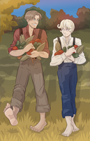 Harvest Time: James and Christian by novemberkris
