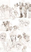 Infinite Spiral Gavin and Alexis Sketchdump by novemberkris