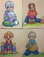 2013 Infinite Spiral Easter Cards by novemberkris
