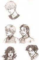 Infinite Spiral Cast Graphite Sketches by novemberkris