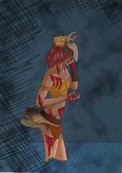 Hiyoma - princess of fire #4 blood by cari262