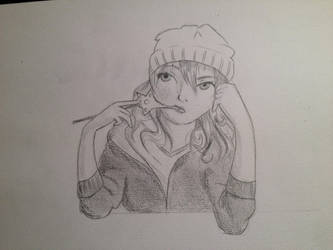 Anime Self Portrait by cari262