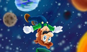 Super Luigi Galaxy by SmashToons