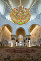 Sheikh Zayed Mosque - Inside by MatthiasHaltenhof