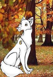 Wolf in Autumn by Kiwi-Love