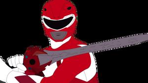Red Mighty Morphin' Power Ranger by SuperHeroTimeFan