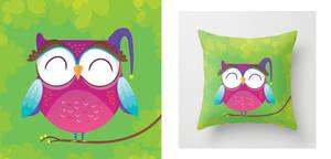 Cute owl pillow by mjdaluz
