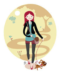 Walk the dog by mjdaluz