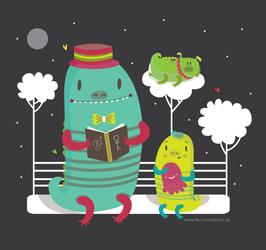 Dino family by mjdaluz