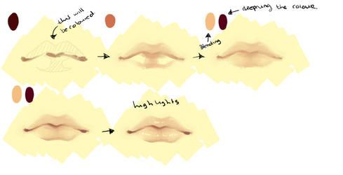 Semi-Realistic Lip Tutorial (SAI) by DecemberComes