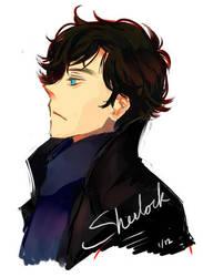 Sherlock sketch by kanae