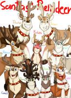 Santa's Reindeer by NamyGaga