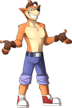 Crash Bandicoot (Adult) by NamyGaga