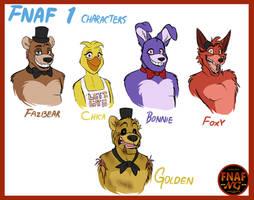 FNAFNG_FNAF 1 Characters by NamyGaga