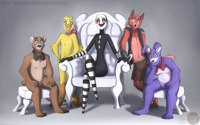 FNAFNG_Marionette Family by NamyGaga