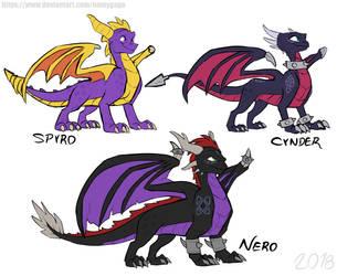 Spyro_My redesigns by NamyGaga