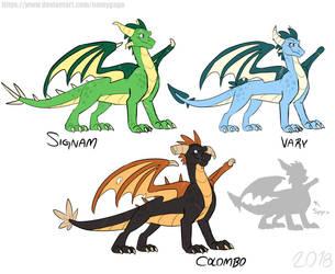 Spyro_New characters designs by NamyGaga