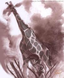 Giraffe by tomfluharty