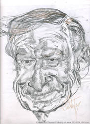 Hugh Hefner Sketch by tomfluharty