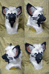 Ember Striped Hyena Head by temperance