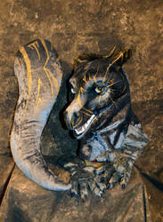 Blue Steel Dragon Partial by temperance