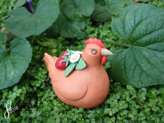 Wild Strawberry Hen by The-Wandering-Bird