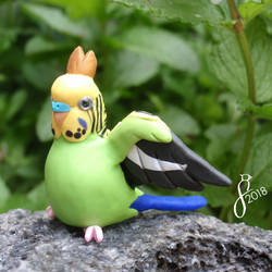 Budgie King by The-Wandering-Bird