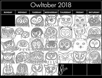 Owltober 2018 by The-Wandering-Bird