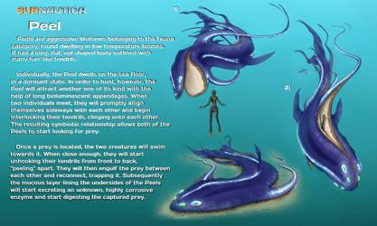Subnautica Creature Idea #3 - Peel by onatfb