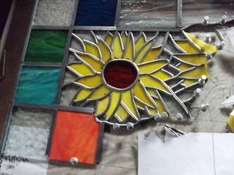 Wip 2 sunflowers by glasslinger